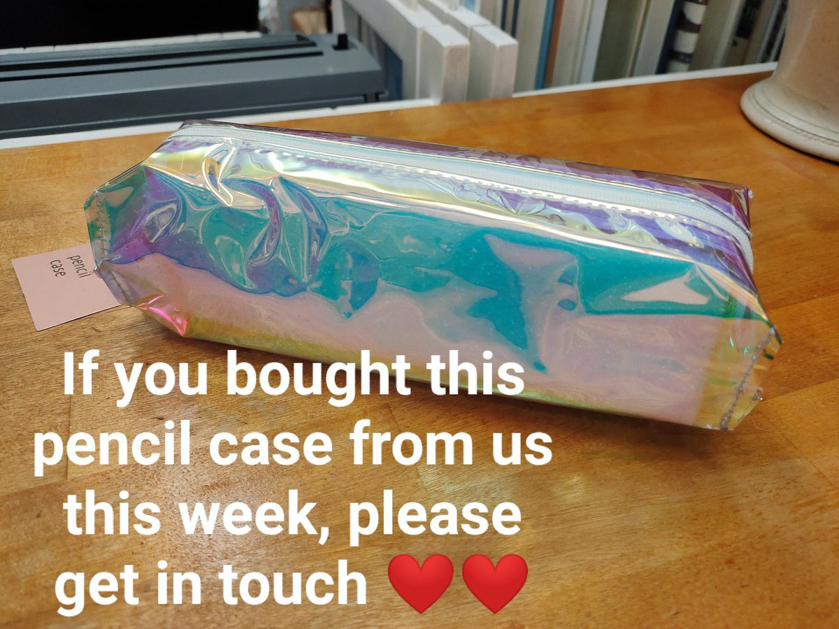 Hey guys! Long shot, but if you happened to buy this pencil case from us this week please get in touch!  There might be an item of huge sentimental value to a customer inside.  #edinburgh #LostAndFound