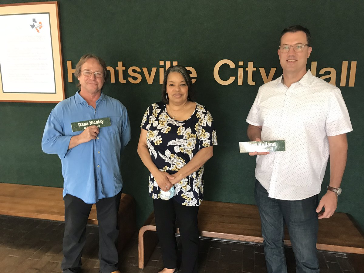 Ken Holland and Dana Nicolay wrapped up their terms serving on the HOT Board in July. Holland served as Chair of the board. Tourism Manager Kimm Thomas thanked the duo for their years of committed service. More about volunteering at  or call 936-291-5413.