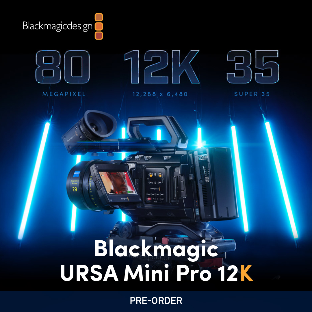 Available for Preorder!  the World's Most Advanced Digital Film Camera! - Preorder:  - #AdvancedMedia #Blackmagic #BlackmagicURSAMiniPro12K #DigitalCamera #Filmmaking #Videography #Cinematography