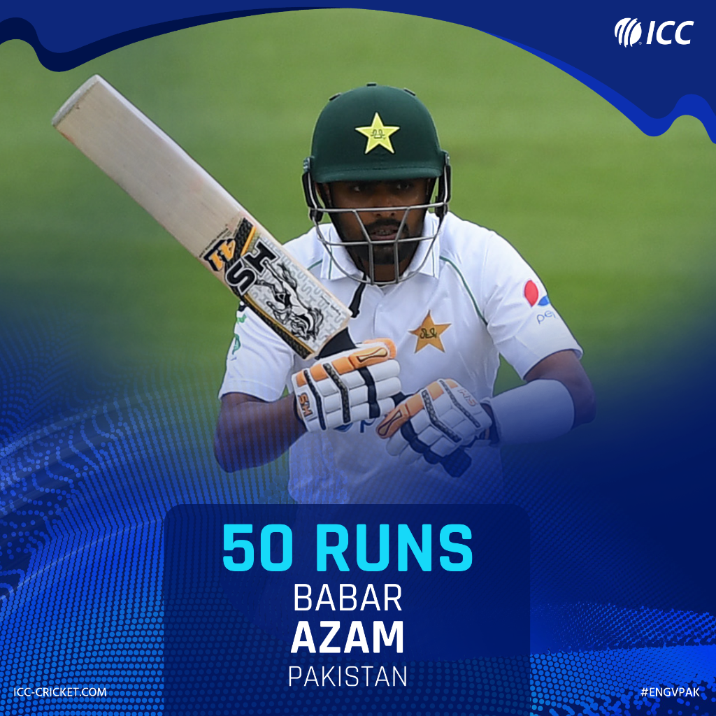 5️⃣0️⃣ for Babar Azam 🎉   He's taken only 70 balls to reach the mark 🔥   #ENGvPAK
