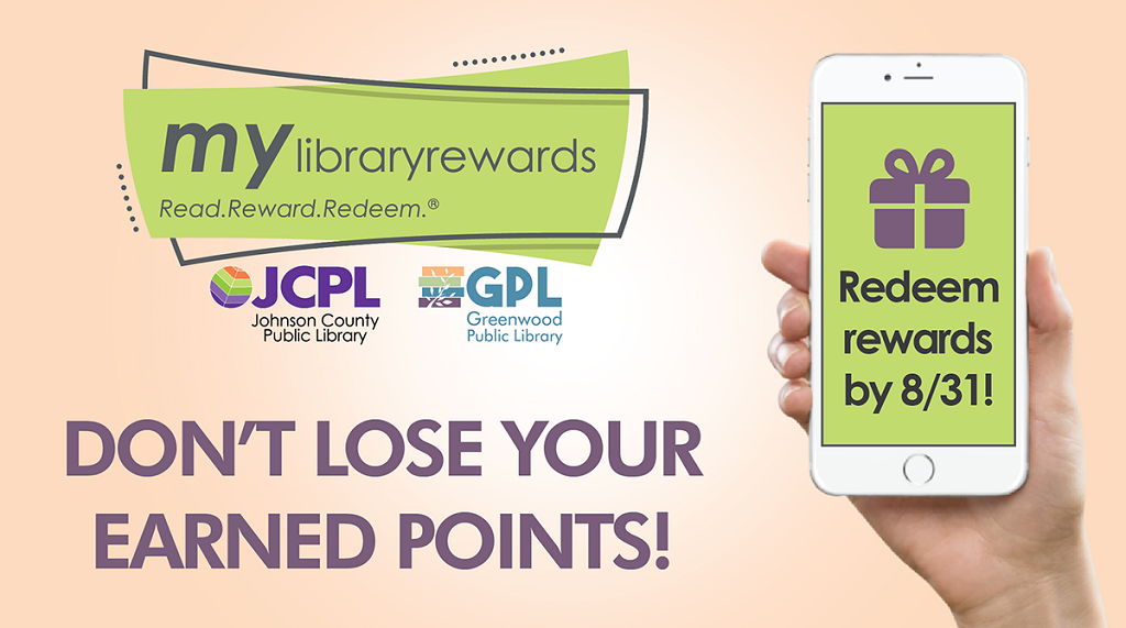 My Library Rewards is coming to an end. Please redeem your points for rewards by August 31. You can then print your vouchers and use them beyond that date. We hope you enjoyed your year of being rewarded! Learn more at