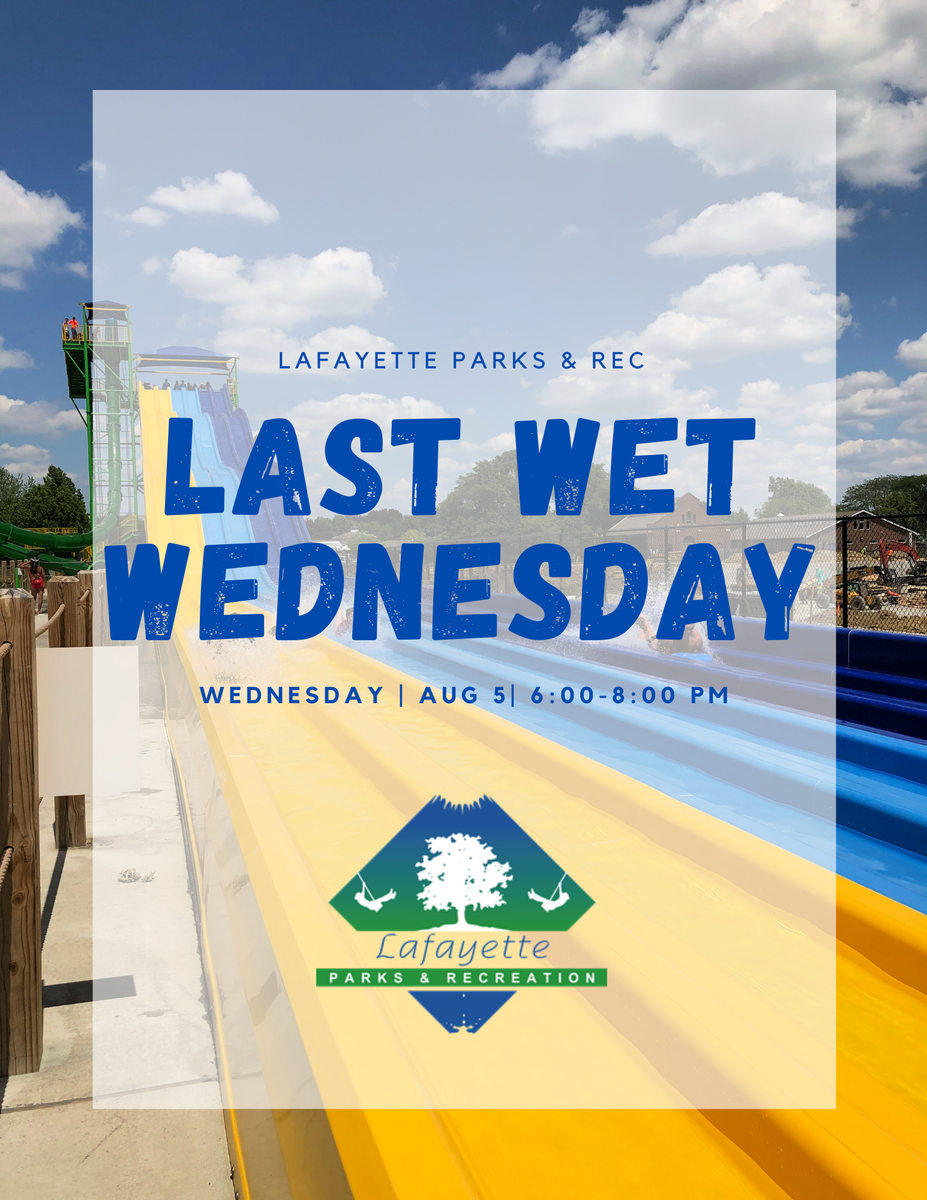 Don't forget! TODAY is the last Wet Wednesday of the season! Come out to the Cove from 6-8 PM for a night full of fun! @wxxb will be on site from 4-6 PM! 😎☀️📢
