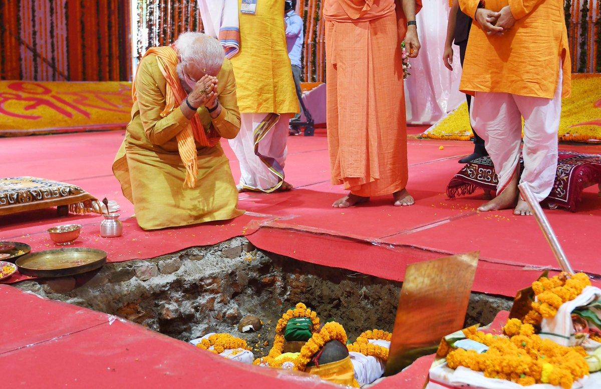 मंगल भवन अमंगल हारी, द्रबहु सुदसरथ अचर बिहारी  Today is a historic day because millions of Indians waited for this moment - laying of the foundation stone of #RamMandir in Ayodhya.  @narendramodi ji @PMOIndia #RamMandirBhumiPujan #RamJanmabhoomi #RamMandirBhumiPujan