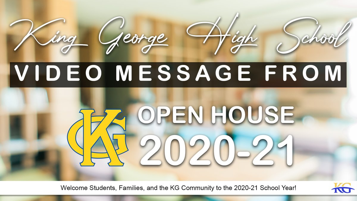 RT @KGCSdivision1: KGHS Virtual Open House 2020-21  - Now available to watch at