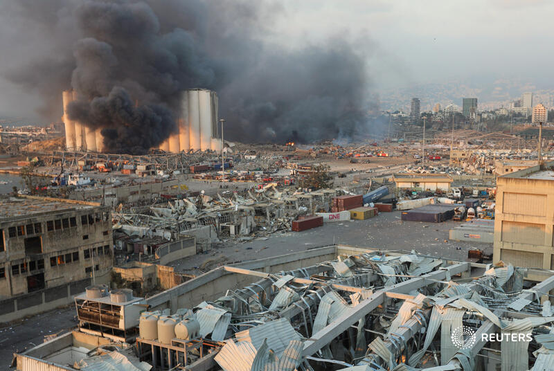 A large quantity of ammonium nitrate exposed to intense heat can trigger an explosion. Storing the chemical near large fuel tanks in large quantities and in a poorly-ventilated facility can cause a massive blast 3/4
