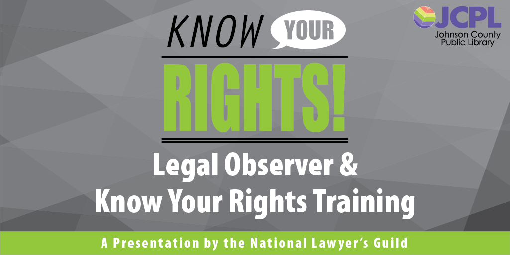 The Legal Observer® program is designed to enable people to express their political views as fully as possible. This Zoom virtual training will teach participants to act as neutral legal observers at protests and demonstrations. Register here: