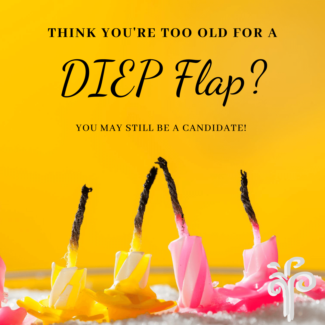 Think you are too old to undergo #DIEPflap #BreastReconstruction?  You may still be a candidate!  Learn more at  #RebuildingLives after #BreastCancer #PlasticSurgery #bcsm