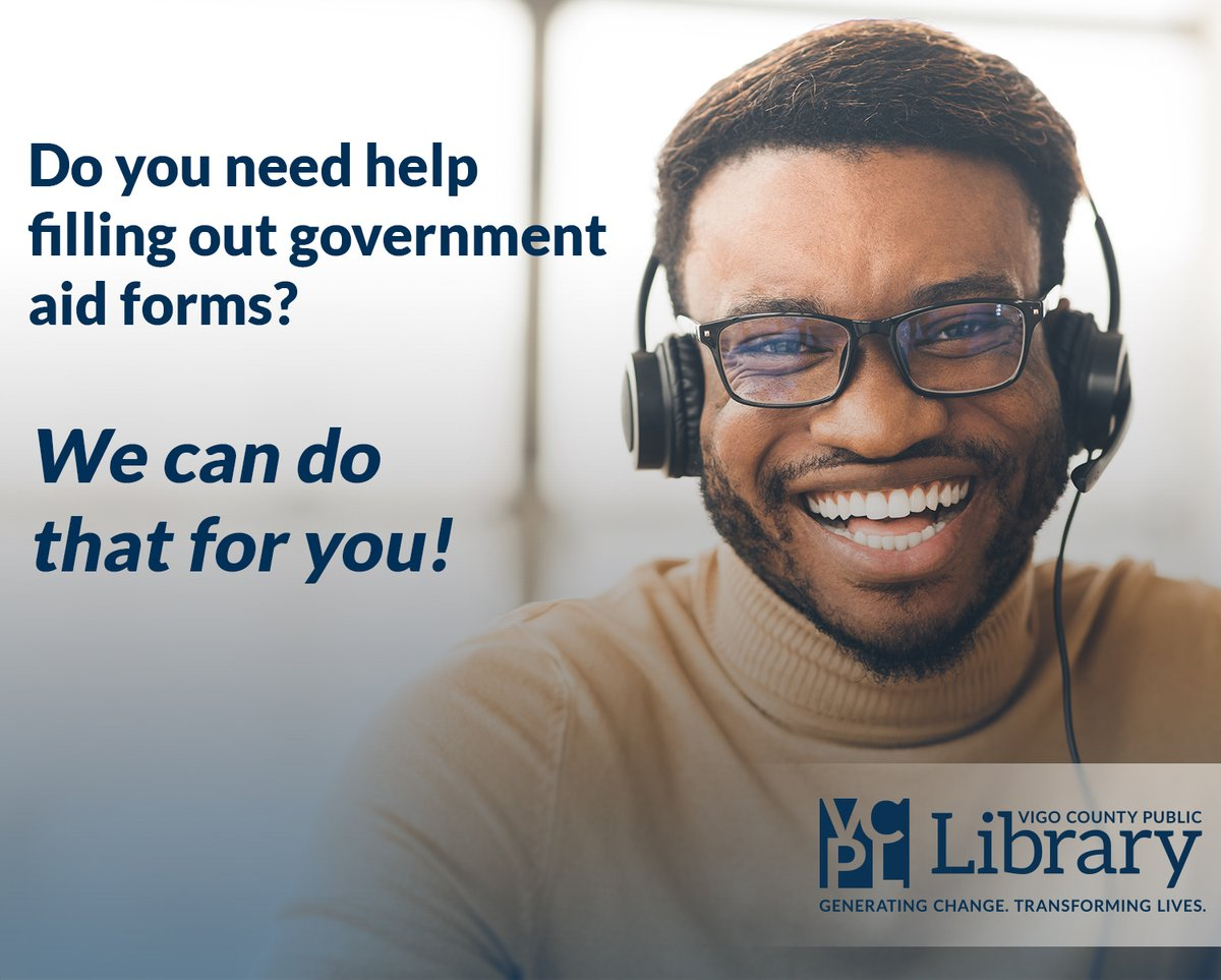 We can fill out your FSSA forms—call us anytime!  📞 Main Library: 812.232.1113 📞 West Branch Library: 812.235.2121  We're happy to help. ☎️😊☎️