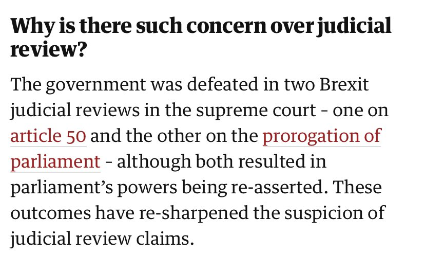 It is incredibly overwhelmingly difficult to hold power to account. And one of the very few tools we have is the right to legally challenge the government. Boris Johnson's government is now looking to deprive us of that right