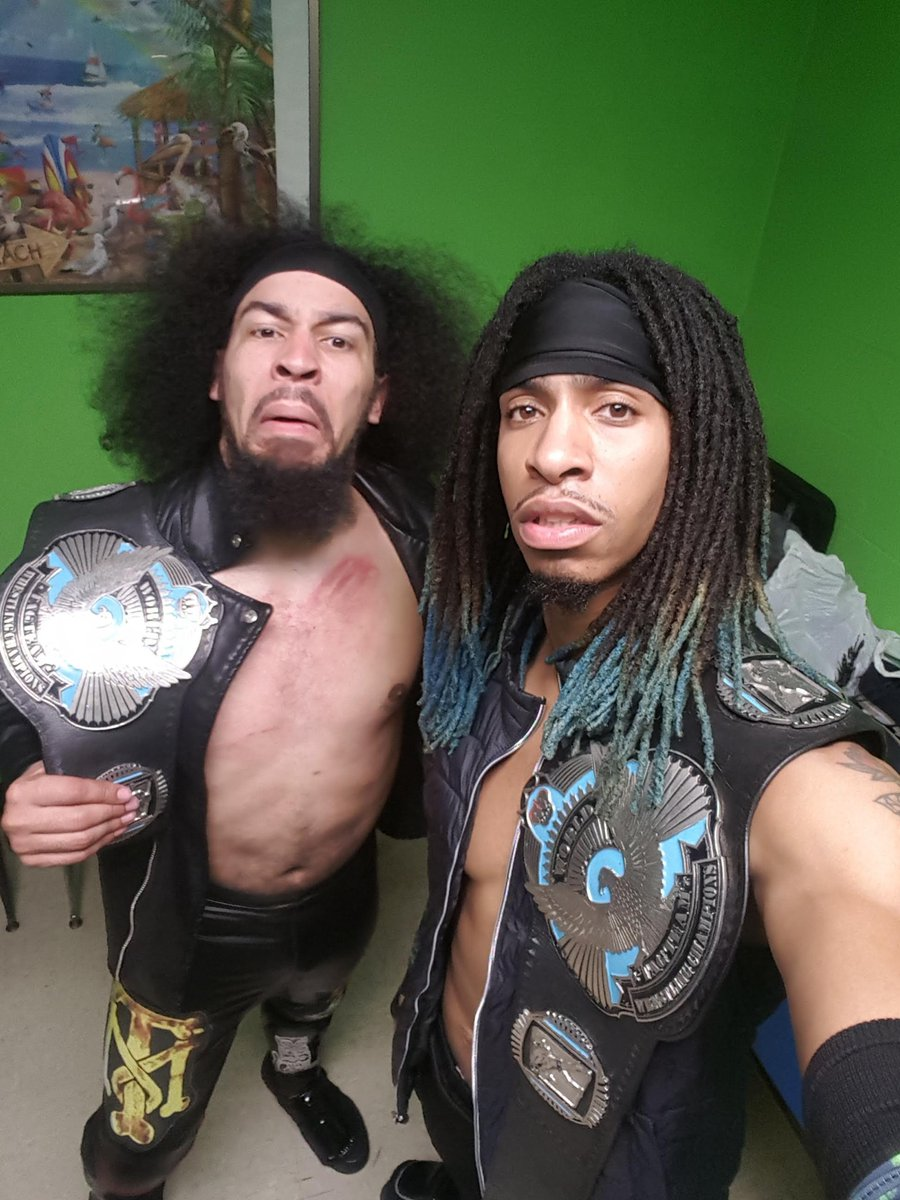 A yooo MACK!!!! When will these cats ever learn that #BlackMagic holds it down wherever, @EWAMDWrestling knows we're the team to lead, we're the only contenders who have multiple tag victories!!!! @bluechip_evans @rs_everett