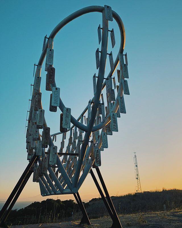 🎶 Ghost Ride the Ship, Ghost Ride the Ship. 🎶  Evening bike ride to the Ghost Ship memorial at the top of the Mare Island Preserve via @ceezzzmk5   #Vallejo #California #VisitVallejo #MareIsland #Sunset #GhostShip #Art
