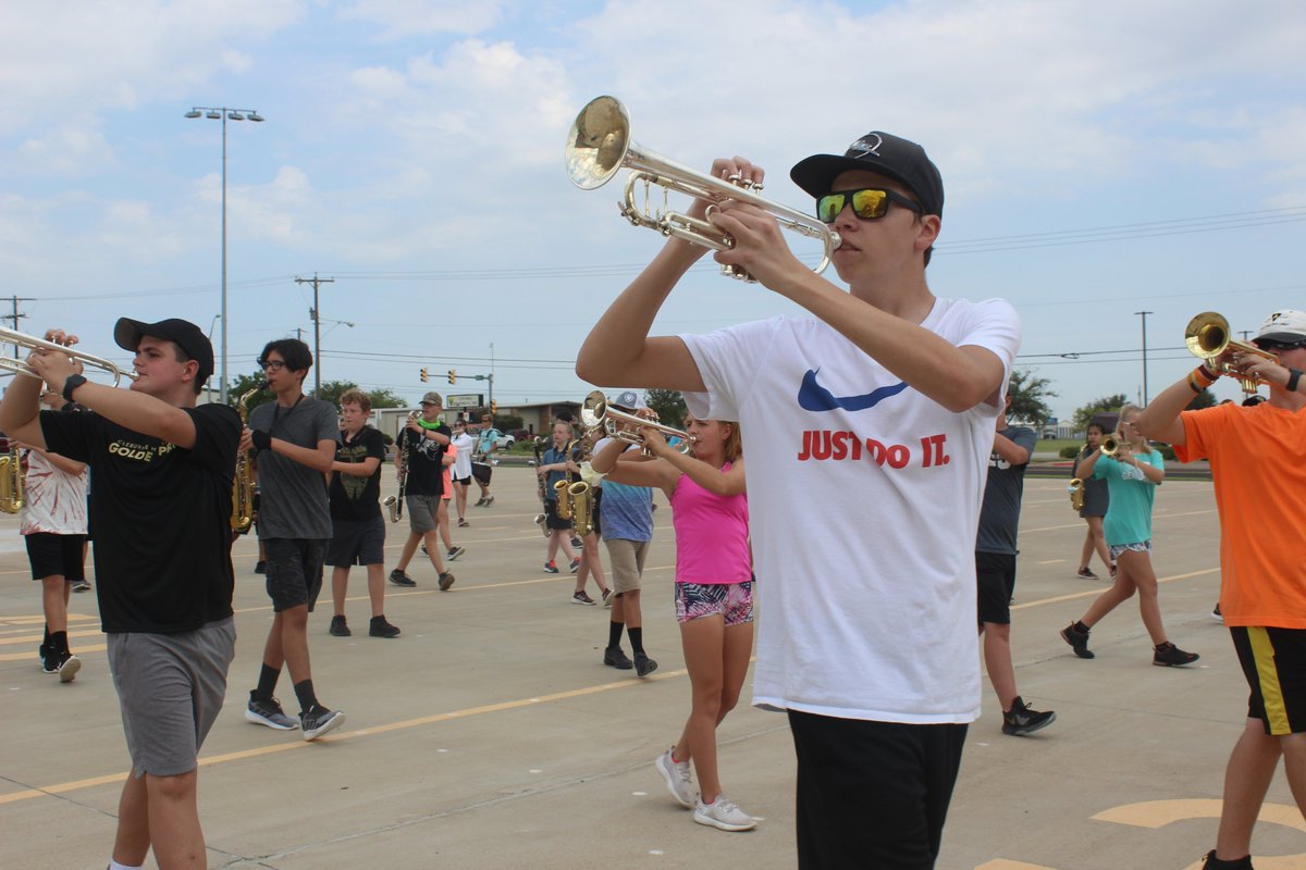 First week of Golden Pride Summer Band Camp! Plenty of social distancing and SUTA!! Go Pride!!