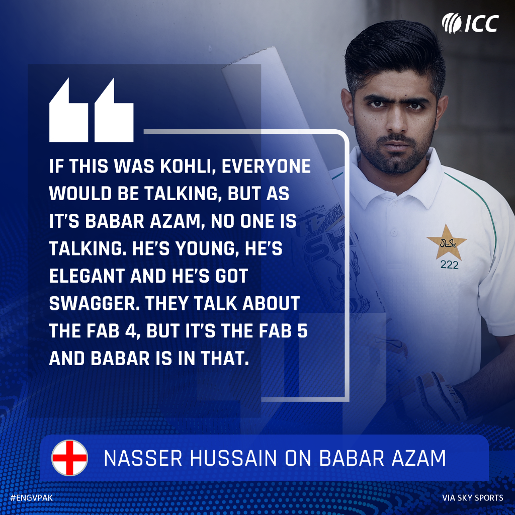 Nasser Hussain doesn't want people to underestimate Babar Azam's talent!  #ENGvPAK