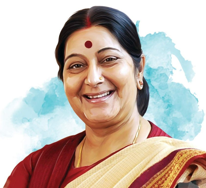Remembering Smt #SushmaSwaraj Ji, compassionate mother of Indians stranded across the globe, on her punya tithi!  She is one of the finest EAM, India has produced. She will be remembered forever for her exceptional service & will be an inspiration to Nari Shakti of the country!