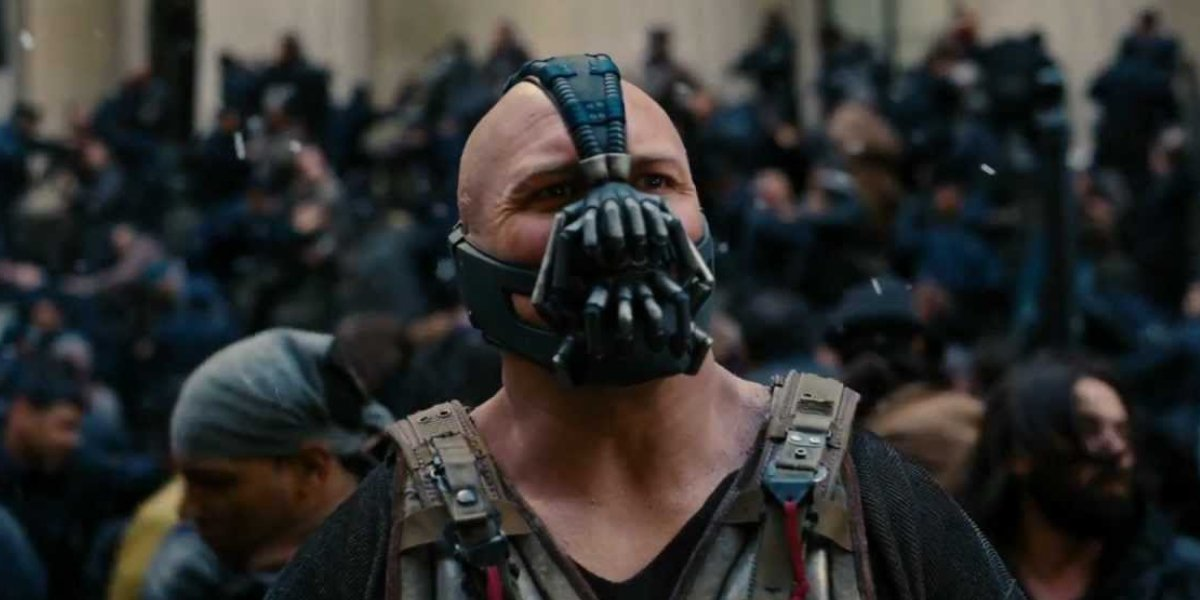 Bane is truly the man of 2020:  - Wore a mask before it was cool  - Overthrows the 1% and robs the stock exchange  - Traps Gotham PD in the tunnels  - Not afraid to cancel sporting events