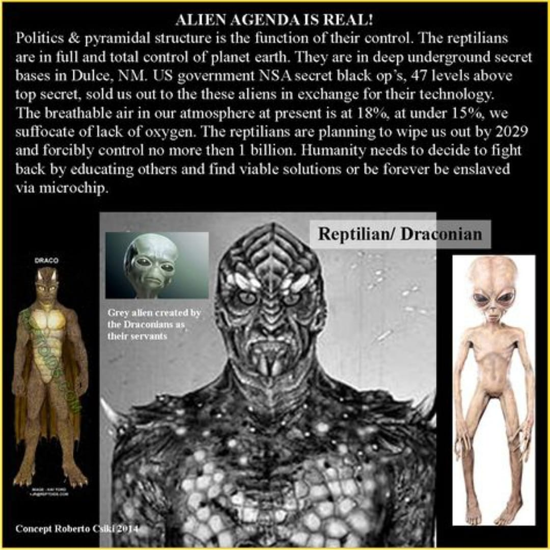 @minihorses89 Wait until people find out about the Reptilian agenda. I'm guessing we're not there yet.