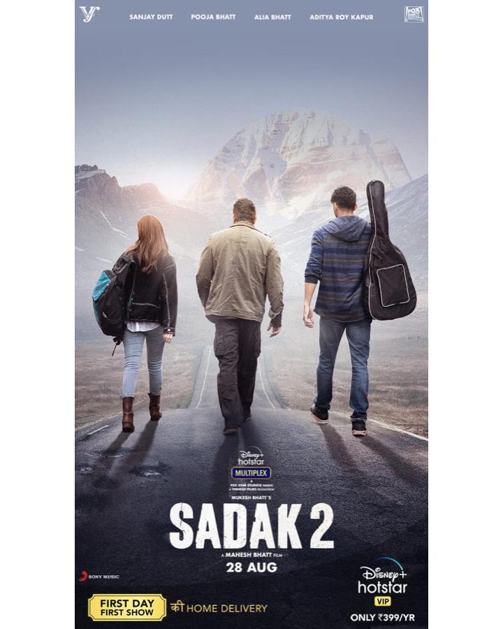 Sadak 2, the road to love streaming on @DisneyPlusHotstarVIP from 28 August  #DisneyPlusHotstarMultiplex  #AdityaRoyKapur @poojab1972 #MukeshBhatt #SuhritaSengupta @mohankapur #akshayanandd