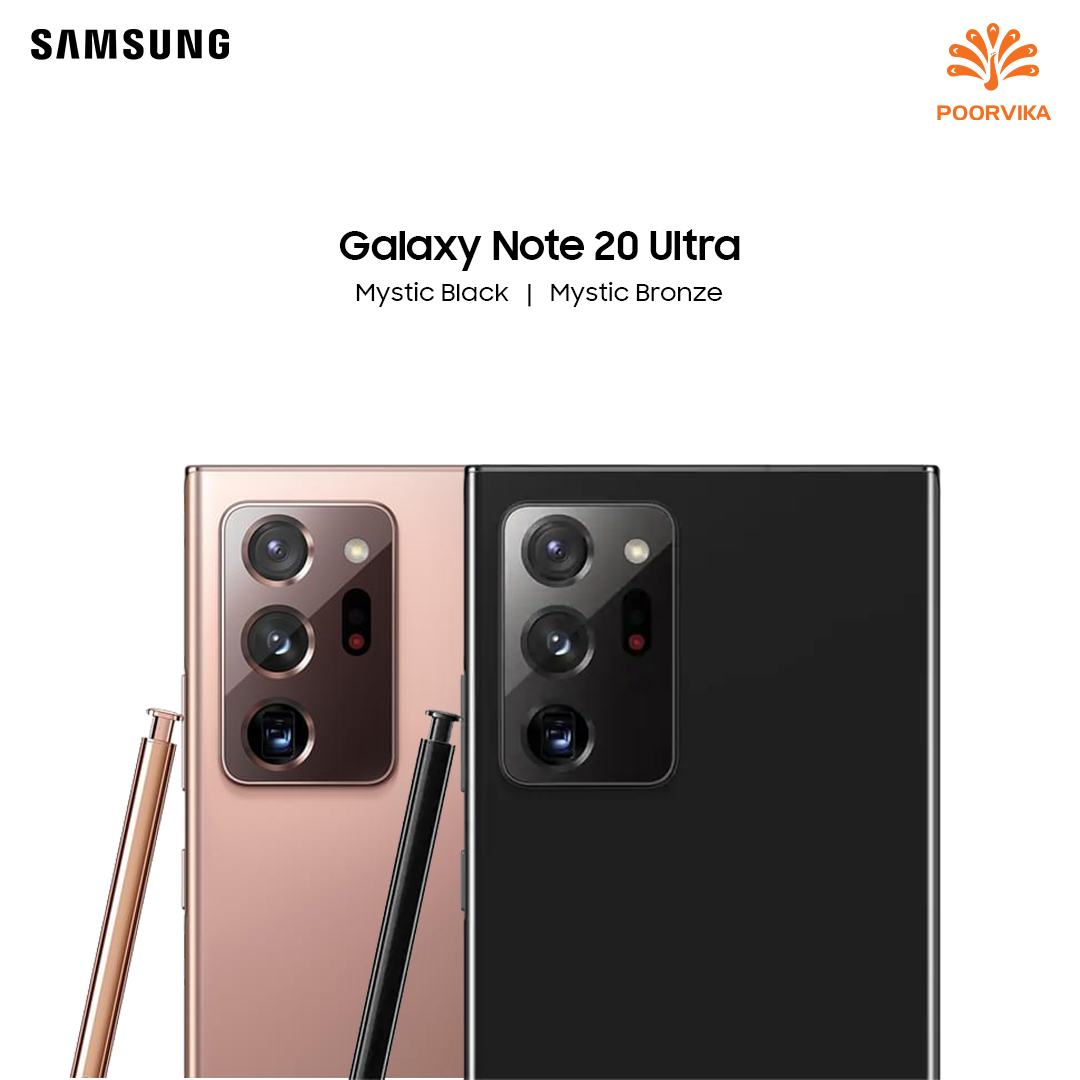 Samsung Galaxy Note 20 & Note 20 Ultra, Launched on #GalaxyUnPacked Event. Here are the Exclusive Images from #PoorvikaMobiles . Know More :  . #GalaxySmartphone #GalaxyWatch #SamsungGalaxyNote #SPen #Samsung #SamsungGalaxy #SamsungIndia #GalaxyUltra