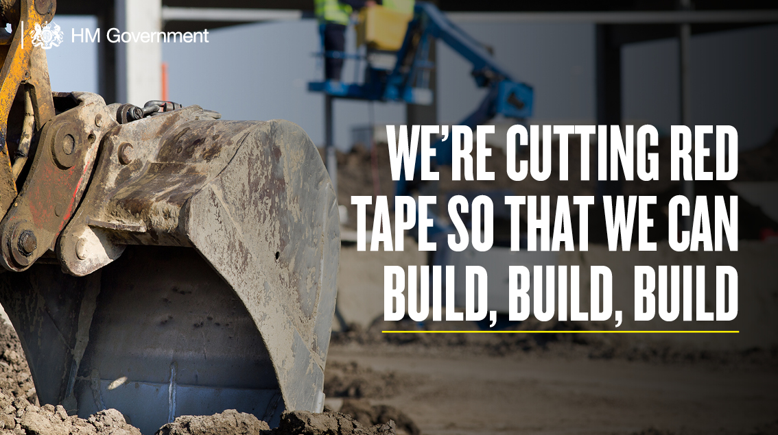 The current planning system wastes time and taxpayers' money.  That's why we're going to cut the red tape, overhaul the planning process and build better, greener homes faster.
