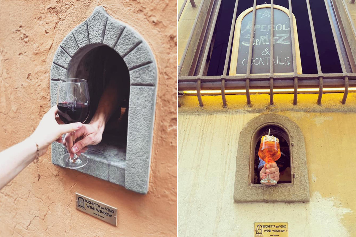Medieval 'wine windows' are reopening, reviving Italian plague tradition