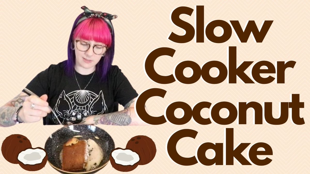 💙💛💜 NEW VIDEO ❤🧡💚    Slow Cooker Coconut Cake   Please RT n I'll love you forever 💗