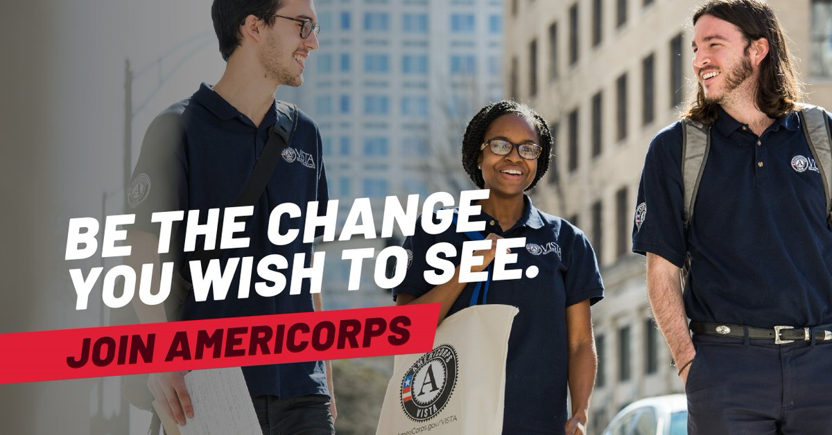 Applications are being accepted for our 2021 AmeriCorps Program. Deadline to apply Mon, Aug 31 @ 11:00p. Members serve 900 hours over a 12 month period (Jan – Dec 2021) & receive training opportunities, a stipend, & education award to help pay for college.