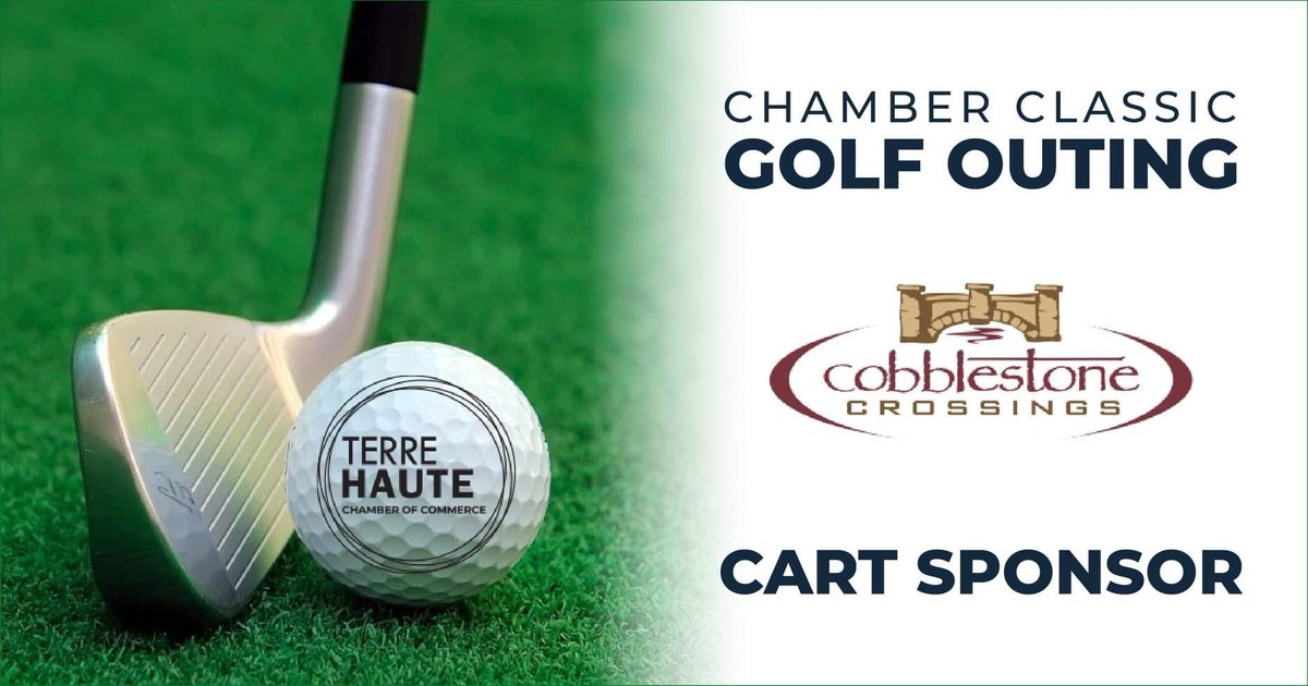 We hit a hole-in-one with this year's Chamber Classic Golf Outing! Thanks to our Cart Sponsor, Cobblestone Crossings Apartments, for supporting this year's event! #ChamberClassic #GolfOuting 🏌️