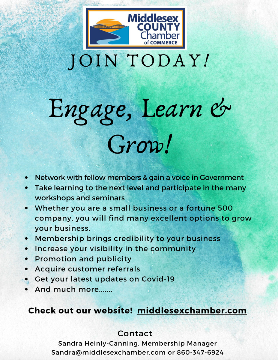 Learn how the Middlesex County Chamber of Commerce will use its resources for the betterment of your business by learning about our membership benefits today!  #MdsxChamber #SupportLocalCT
