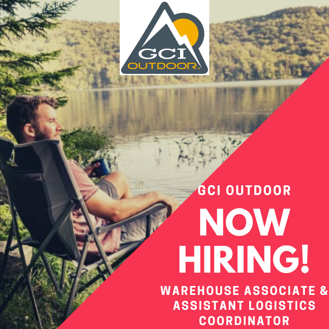 GCI Outdoor is a leader in the outdoor, hardware, sporting goods & RV industries. They're looking for a positive, motivated, energetic, and organized person to serve as an Assistant Warehouse Logistics Coordinator and a Warehouse Associate!  Apply Here: