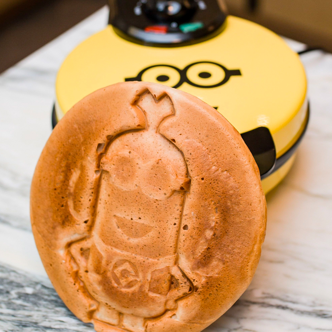 You and your kids will love these fun waffles shaped like that most adorable #Minion, Kevin! @Minions #minions #minionsparty @DespicableMe @UniStudios #minionsmovie #minionsstyle #minionsstuff #minionsshop #minionslover #waffles #funfood   #uncannybrands #thatsuncanny
