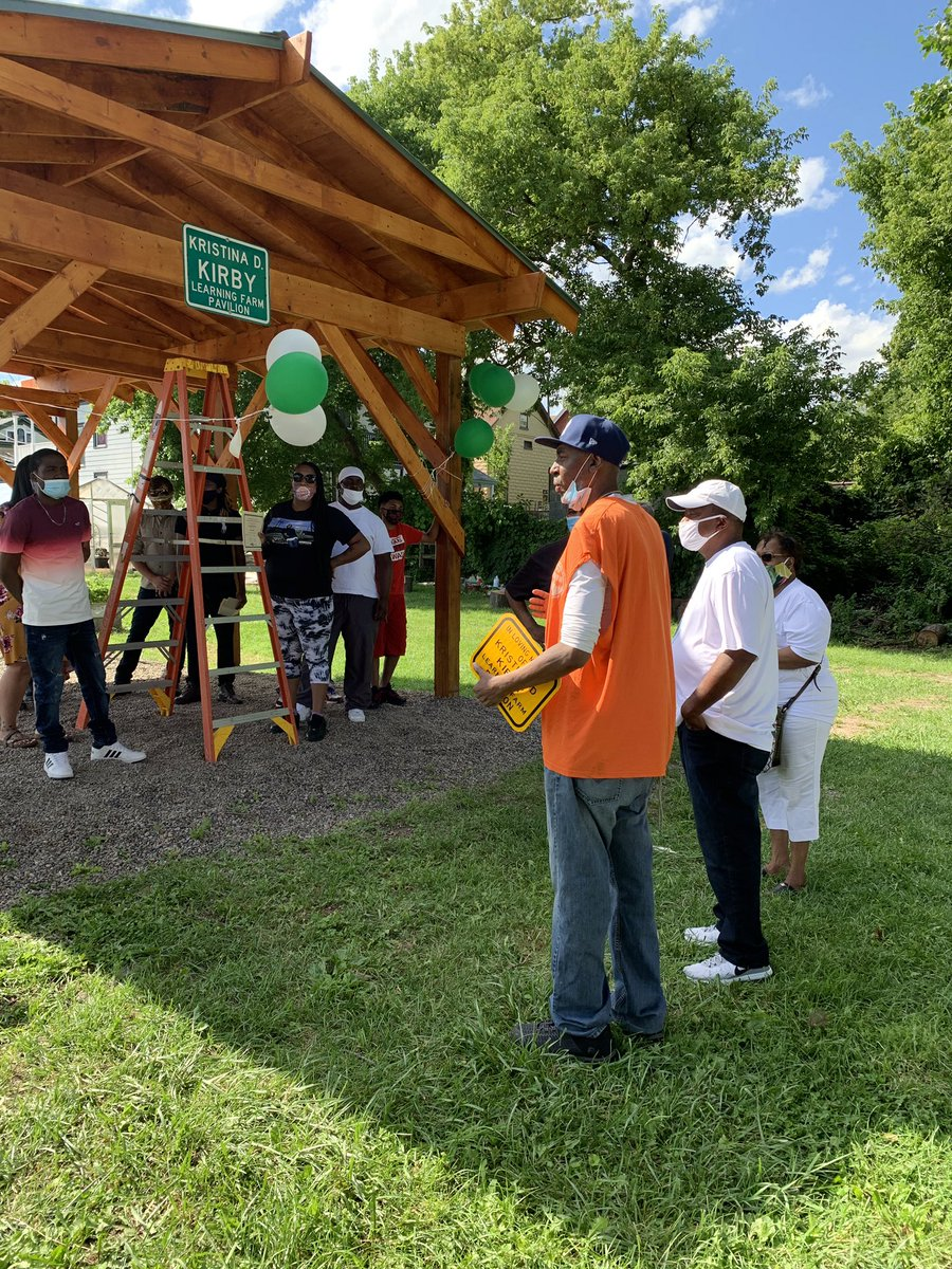 👏 to @JubileeHomes for the unveiling of the Kristina D. Kirby Learning Farm Pavillion. The builders and community partners came together and made it happen in Kristina's honor. Kirby invested a great deal into starting the farm and helping youth, and will always be remembered.