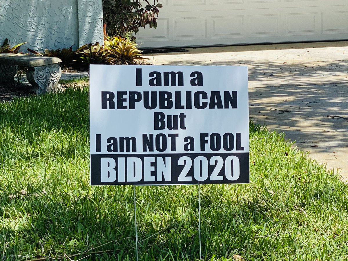 🔥Spotted this GLORIOUS sign of support for @JoeBiden in #Florida.  #YesWeCanAgain