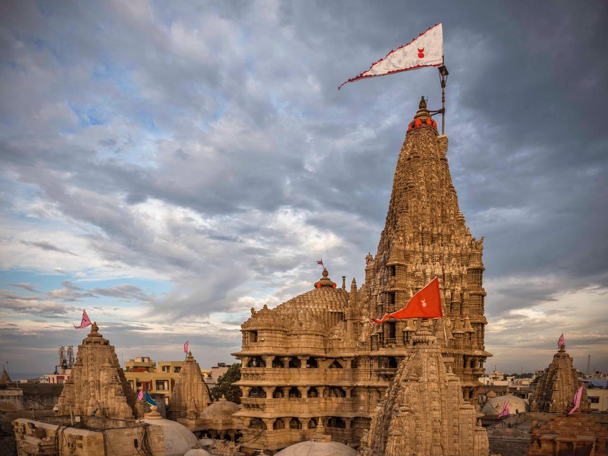 To safeguard people from ongoing #COVID19 pandemic, the #Dwarkadheesh temple at #Dwarka will remain closed during #Janmaashtami festival period from 10th to 13th Aug for the public. #GujaratCoronaUpdate @CMOGuj @Nitinbhai_Patel  @pkumarias @COLLECTORDWK @yatradhamboard @SP_Dwarka