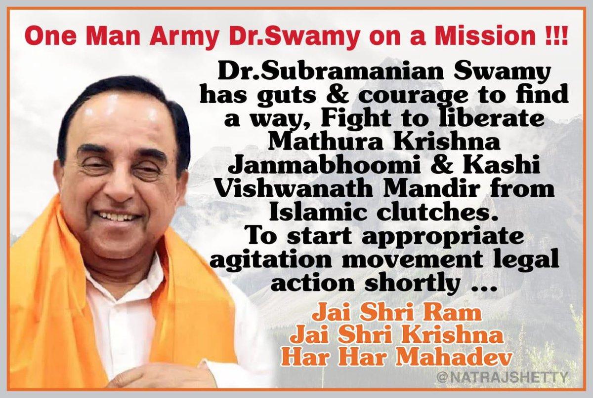 One Man Army @Swamy39 on a #mission   #JaiShriRam #JaiShriKrishna #HarHarMahadev @vhsindia @jagdishshetty