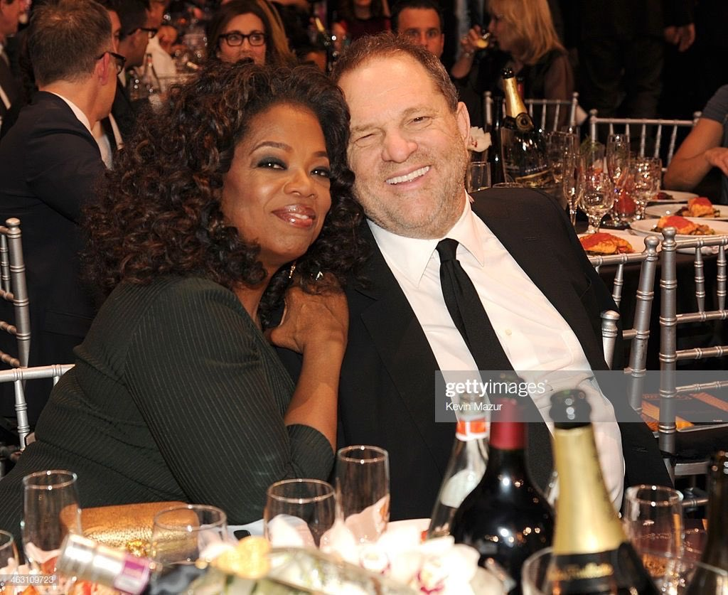 Oprah lectures poor white families about their privilege but then has no problem cozying up to rich white predators like Harvey Weinstein