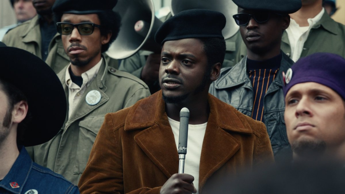"""Watch the trailer for Judas and the Black Messiah, a movie about the betrayal & assassination of Fred Hampton, chairman of the Black Panther Party. Starring Daniel Kaluuya & LaKeith Stanfield. Only in theaters. """"You can murder a revolutionary, but you can't murder a revolution."""""""