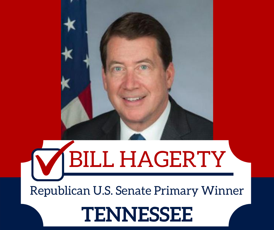 BREAKING:  Bill Hagerty wins Republican Senate primary in Tennessee