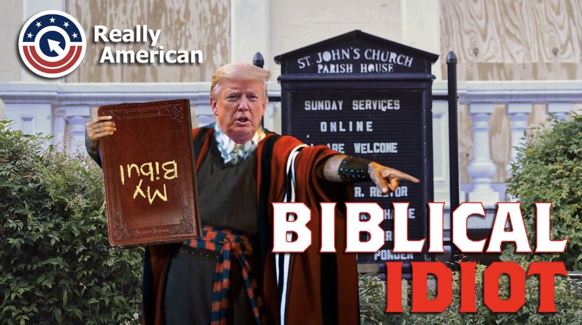 #Biblicalidiot is trendin'!  It would be a shame if we ruined @realDonaldTrump's evenin' by takin' it to number #1.