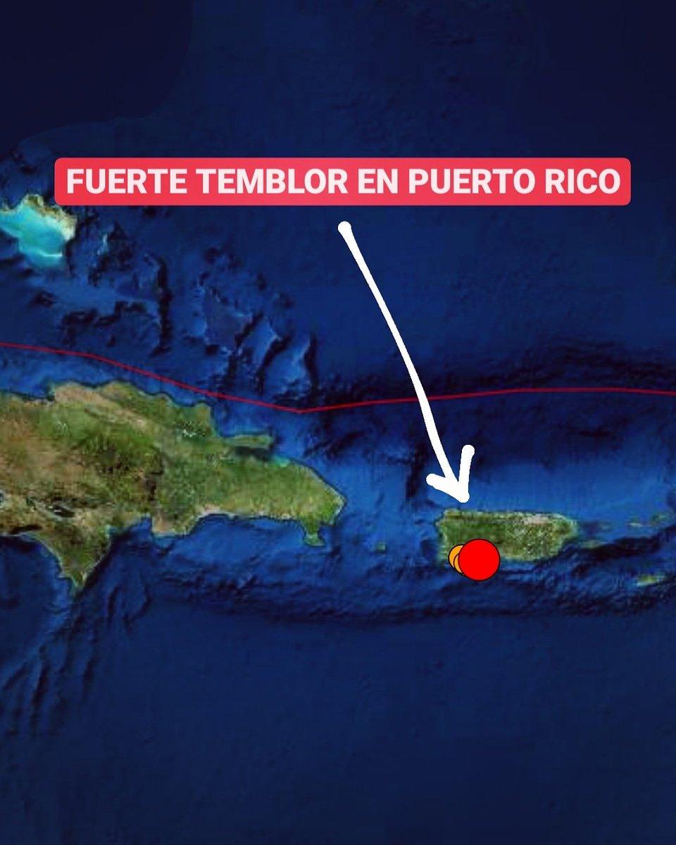 🔴Un sismo magnitud 5.2 ocurrió hace minutos al suroeste de Puerto Rico: el temblor fue registrado a las 11:27 PM, con epicentro a 6 kilómetros al suroeste de Tallaboa.  ⚠️Coordenadas: 17.946°N / 66.752°O ⚠️Profundidad: 2 kilómetros.