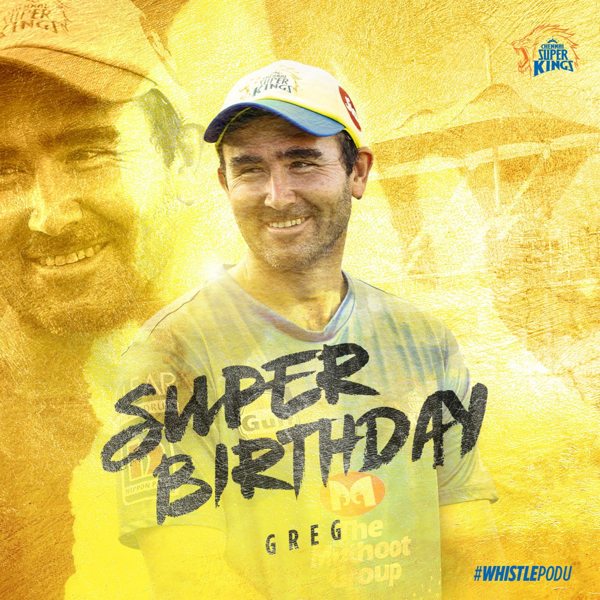 It's a kingly feat to keep a whole pride of 30+ year olds super fit. But with his surname it was just meant to be. Super Birthday to our beloved trainer Gregory King. #WhistlePodu 🦁💛