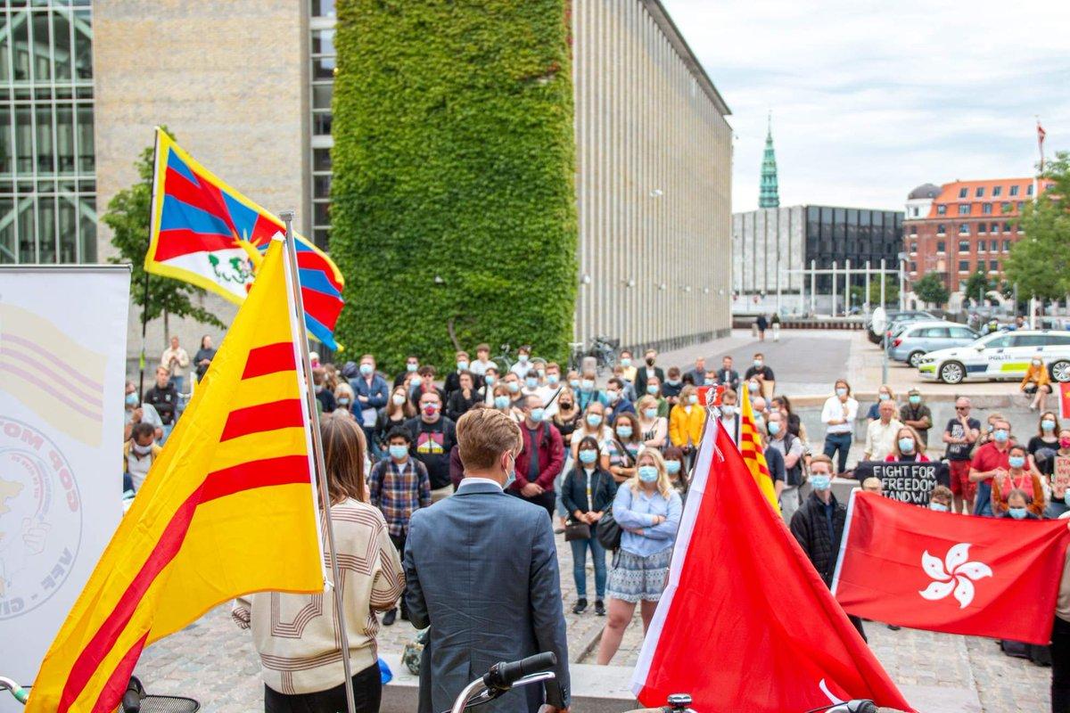 Support Hong Kong protest in Danmark 🇩🇰🇭🇰 #FreeHK #FreeHongKong #StandWithHongKong #DenmarkstandswithHongKong  #DemocracyNow  #Fuckccp