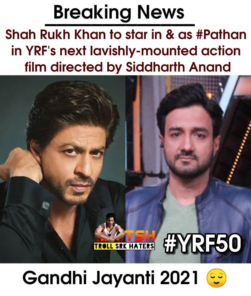 Breaking news ❤️ #SRK #SiddharthAnand #YRF50