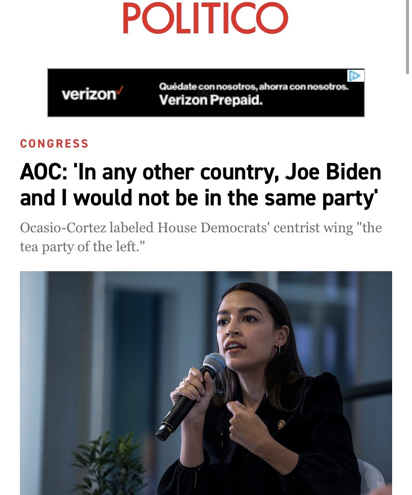 We don't want #AOC or any other anti-Dem speaking!