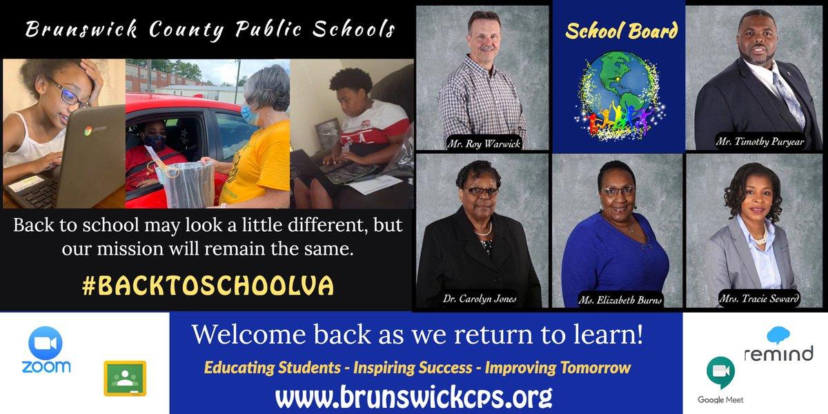 Welcome back as we return to learn! -BCPS School Board #BrunswickStrong #bcpsva #BACKTOSCHOOLVA @bcpsva