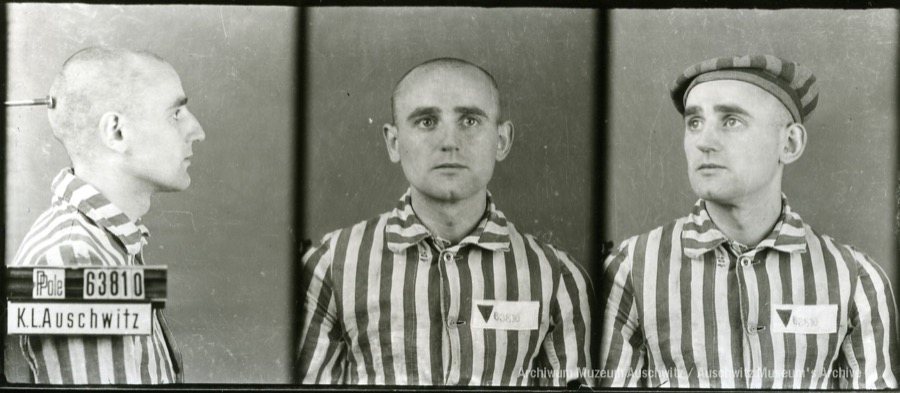 9 August 1920 | Pole Tadeusz Lisiak was born in Juncewo. A clerk.  In #Auschwitz from 15 September 1942. No. 63810 In 1943 he was transferred to KL Gross-Rosen. He survived.