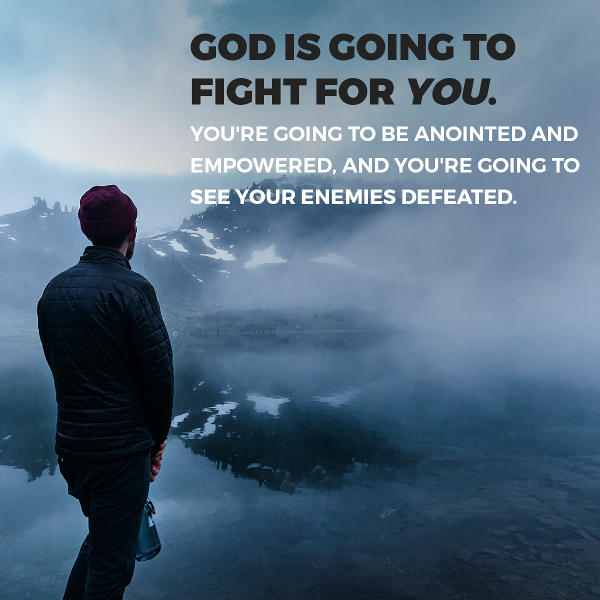 When God fights for you, no enemy–financial, emotional, physical, or spiritual–can withstand Him. #SabbathSunday