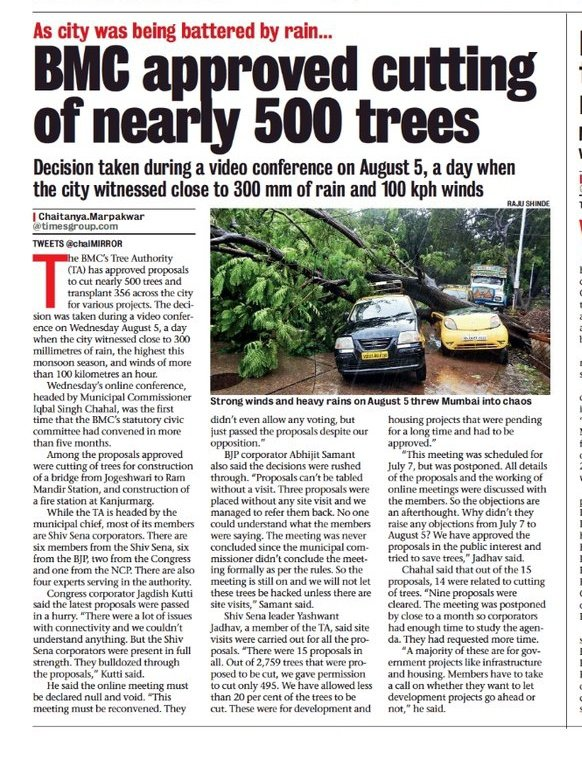 Where are the 'Save Aarey' activists ?