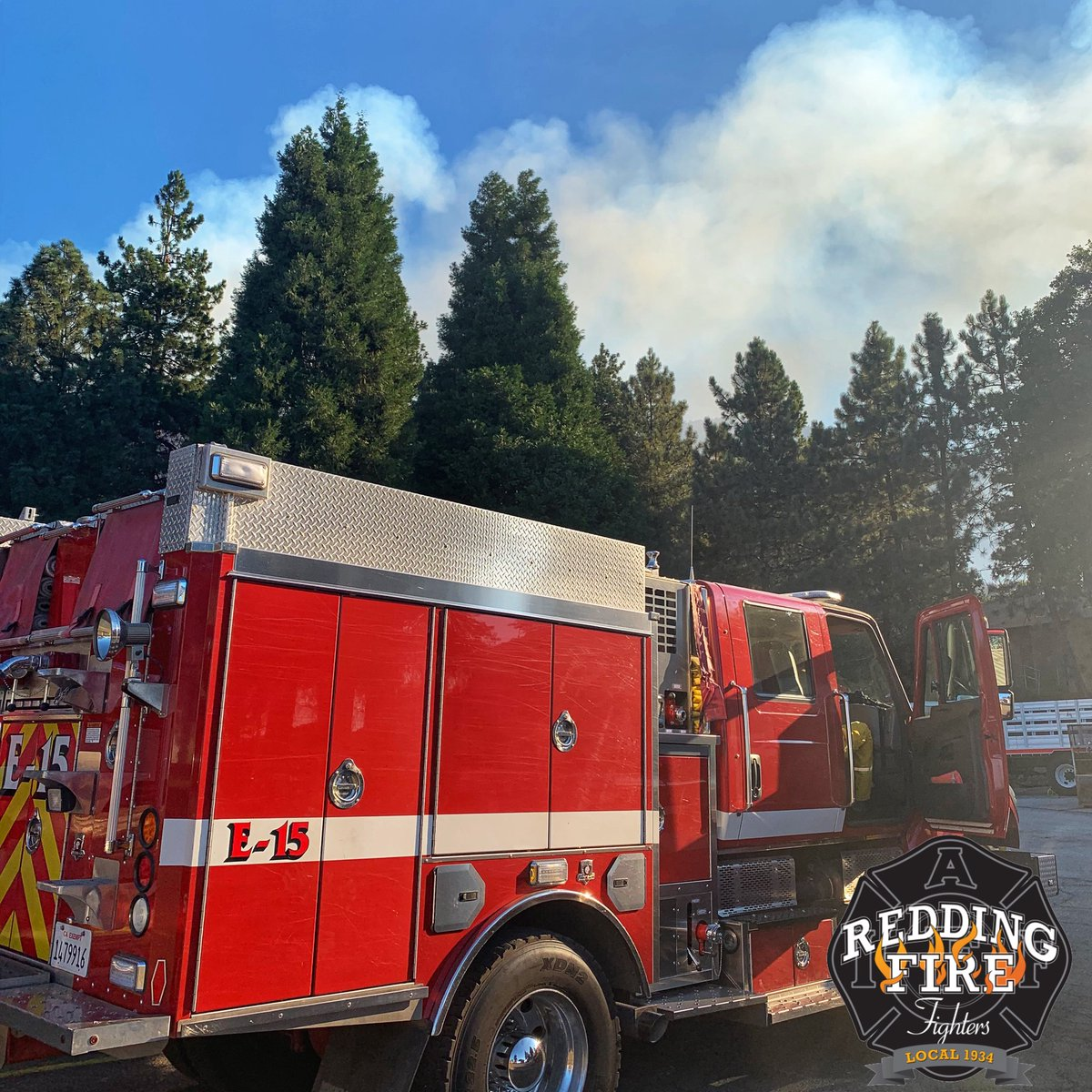 #reddingfirefighters continue to support the #applefire in Southern California. We are hopeful they will be coming home soon.  #reddingfire