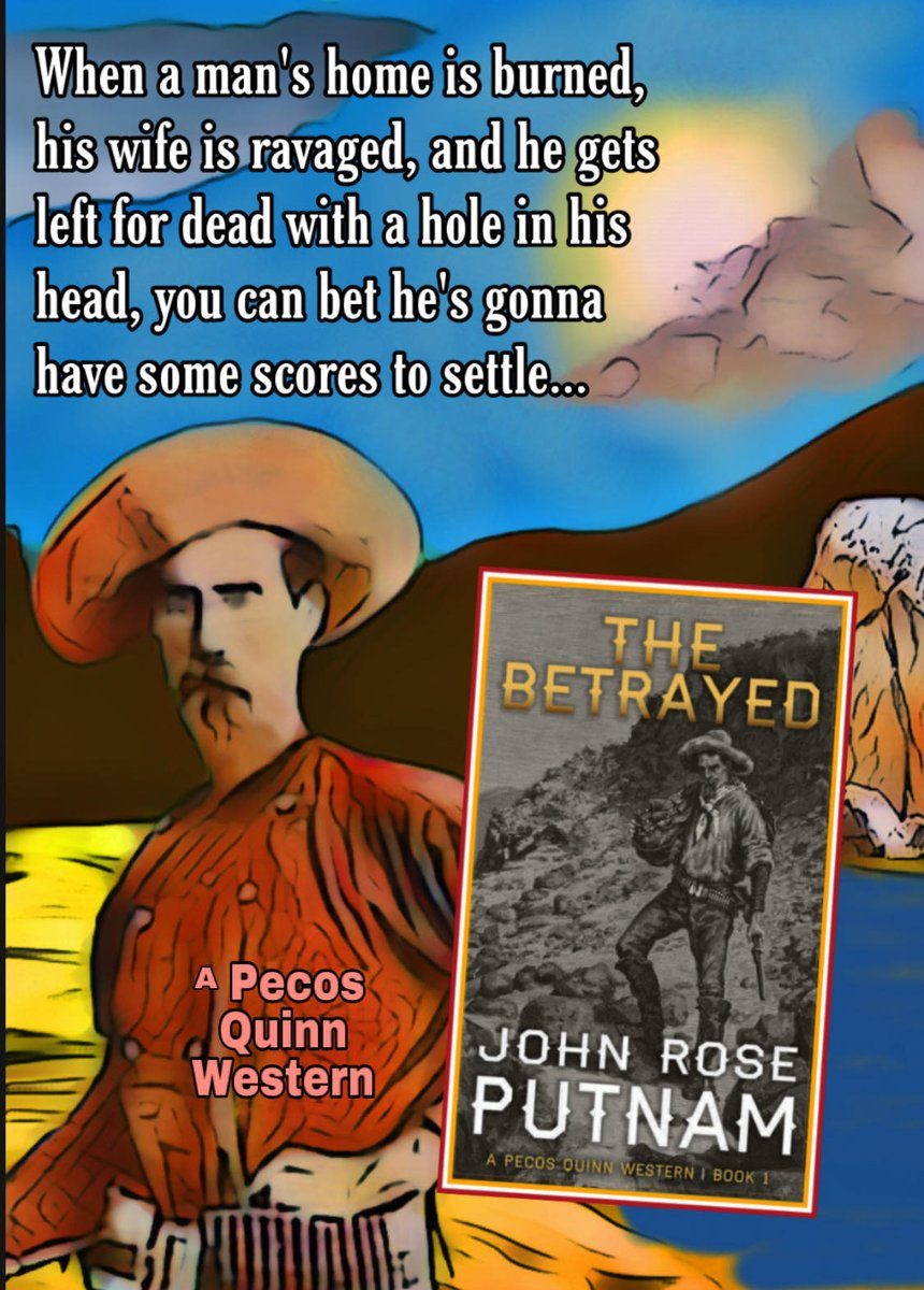 A Kindle Bestseller  Left for dead,  lost and confused,  he drank too much.  Until at last he had to know.  What happened that day along the Pecos River?  ❈THE BETRAYED❈      99c ~ FREE on #KindleUnlimited  #Western #Adventure
