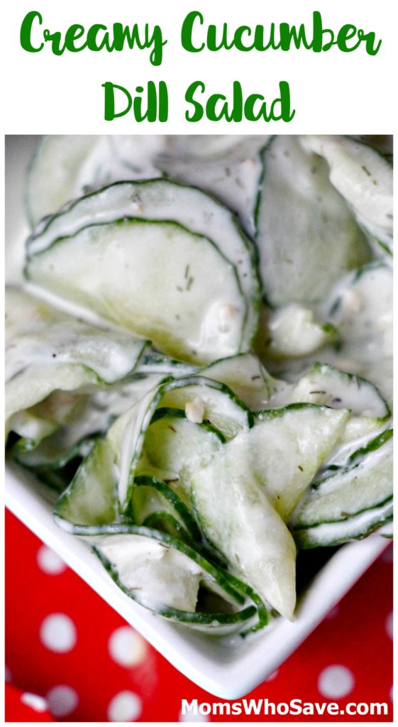 Try This Creamy Cucumber Dill Salad  >>   #recipes